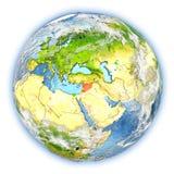 La Syrie sur terre d'isolement illustration de vecteur