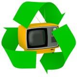 La télévision de cru à l'intérieur du symbole réutilisent images libres de droits