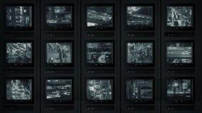 La télévision en circuit fermé examine observer la ville clips vidéos