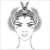 La tête antique du ` s de Cléopâtre Image libre de droits