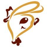 La tête d'un lièvre gai dans un chapeau et un noeud papillon illustration libre de droits