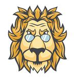 La tête d'un lion dans des lunettes de soleil illustration stock
