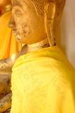 La tête de Bouddha de plan rapproché, statue au Musée National de Wat Pra Bronathatchaiya, Thaïlande Image libre de droits