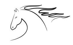 La tête de cheval stylisée Photos libres de droits