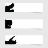 La tête de Dinosaurus avec la bannière blanche a placé l'illustration deux Photos stock