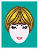 La tête de la fille Image stock