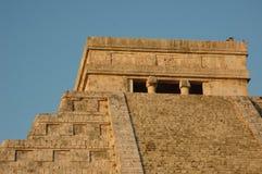 La tête de la pyramide d'EL Castillo Photos libres de droits
