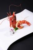 La tête des crevettes roses quatre de mer de sud de la Chine Photo libre de droits
