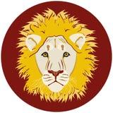 La tête du lion illustration de vecteur