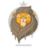 La tête du Roi Lion Photographie stock libre de droits