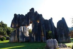 La for?t en pierre dans Yunnan C'est des formations d'une chaux situ?es dans la r?gion de Shilin Karst, Yunnan, Chine photographie stock libre de droits