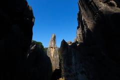 La for?t en pierre dans Yunnan C'est des formations d'une chaux situ?es dans la r?gion de Shilin Karst, Yunnan, Chine photos stock