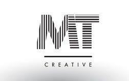 La TA M T Black et lignes blanches lettre Logo Design Illustration Stock