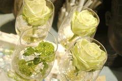 La tabella di Dinning ha impostato per una cerimonia nuziale o un evento Fotografie Stock
