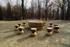 La Tabella di silenzio è uno dei tre pezzi di Targu Jiu Monumen immagine stock libera da diritti