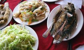 La Tabella ha impostato con alimento asiatico Immagini Stock Libere da Diritti