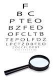 La tabella per il controllo visivo Fotografie Stock