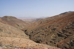 从La Tablada通行证山顶的看法  免版税库存照片