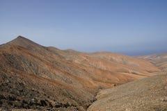 从La Tablada通行证山顶的看法  免版税图库摄影