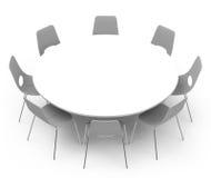 La table blanche Images libres de droits