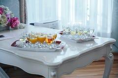 La table dans le restaurant Photo stock