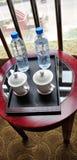 La table de thé de l'hôtel Photographie stock libre de droits