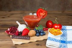 Antioxydants sur la table image libre de droits