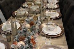 La table est couverte, Joyeux Noël image libre de droits