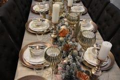 La table est couverte, Joyeux Noël photo libre de droits