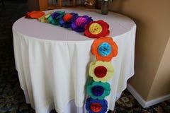 La table est décorée Photo stock