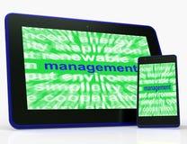 La tableta de la gestión muestra la administración y el gobierno de la autoridad ilustración del vector