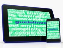 La Tablette de directives signifie des protocoles d'instructions et des règles de base illustration stock