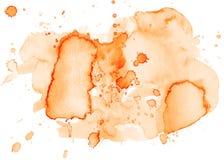 La tache abstraite colorée de texture d'aquarelle avec éclabousse et éclabousse illustration libre de droits