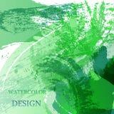 La tache abstraite colorée de texture d'aquarelle avec éclabousse Fond créatif moderne d'aquarelle pour la conception à la mode illustration de vecteur