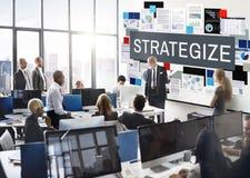 La tactique stratégique de Strategize de stratégie prévoyant le concept photographie stock libre de droits