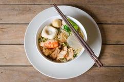 La tagliatella è alimento tradizionale in Tailandia Fotografia Stock