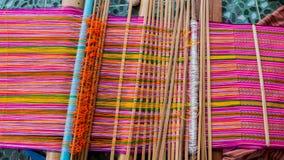 La Tailandia antiquata di seta tessuta macchina Immagine Stock Libera da Diritti