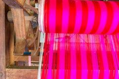 La Tailandia antiquata di seta tessuta macchina Fotografia Stock