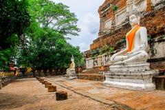 La Tailandia, Asia, Ayuthaya, Wat Yai Chai Mongkhon, Asia Orientale fotografie stock