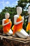 La Tailandia Ayutthaya Wat Yai Chai Mongkhon fotografie stock libere da diritti