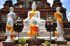 La Tailandia Ayutthaya Wat Yai Chai Mongkhon immagine stock libera da diritti