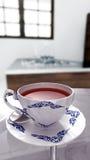 La Tailandia barra la tazza di tè bianca Fotografia Stock Libera da Diritti