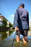 La Tailandia che sommerge 2011 Immagine Stock