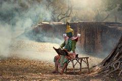 La Tailandia la cultura Khon di arte fotografie stock libere da diritti