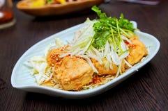 La Tailandia ha fritto la farina di fave Immagine Stock