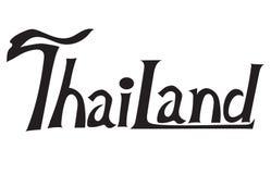 La Tailandia la lettera T è progettazione tailandese della fonte immagine stock libera da diritti