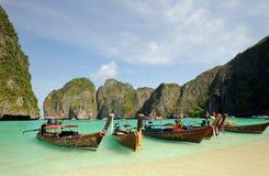 La Tailandia. Mare di Andaman. Isola di Phi di Phi. Baia del Maya fotografia stock
