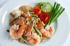 La Tailandia mescolare-ha fritto le tagliatelle di riso (rilievo tailandese) Immagine Stock Libera da Diritti