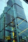 la Tailandia nei palazzi del distretto di ufficio di Bangkok riflessi Fotografia Stock