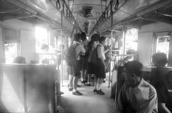 La Tailandia: Studente nel lato il treno fotografia stock libera da diritti